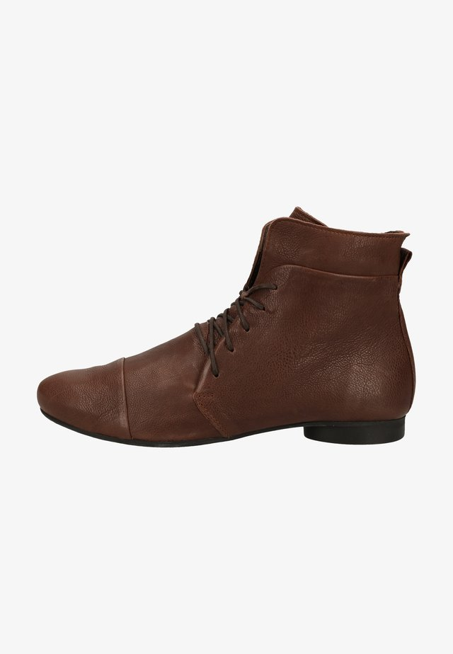 Lace-up ankle boots - mocca