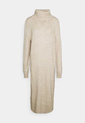ONLBRANDIE ROLL NECK DRESS - Jumper dress - pumice stone