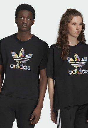 LOVE UNITES TREFOIL - T-shirt imprimé - black