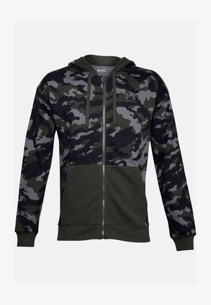RIVAL CAMO FZ - Zip-up hoodie - baroque green