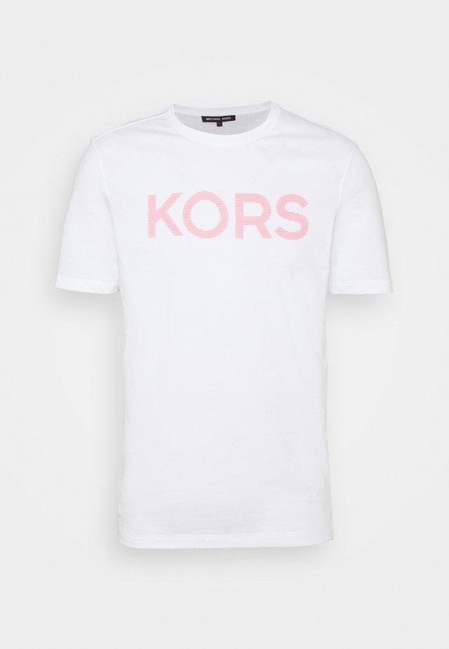 STRIPED TEE - Print T-shirt - white