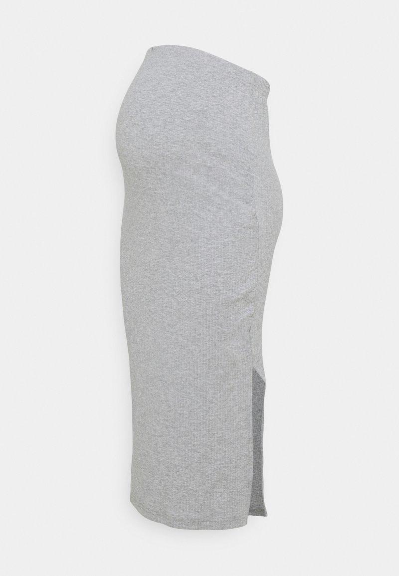 Missguided Maternity - MATERNITY SIDE SPLIT MIDI SKIRT - Pencil skirt - grey marl