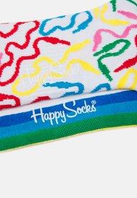 Happy Socks - WIRE 3/4 CREW SOCK/COLOUR STRIPE 3/4 CREW SOCK UNISEX 2 PACK - Calcetines - multi-coloured - 1
