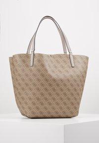 Guess - ALBY TOGGLE TOTE SET - Tote bag - brown - 3