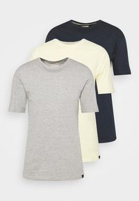 grey marl/light yellow/navy