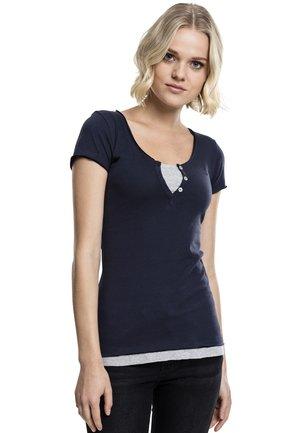 Basic T-shirt - navy/grey