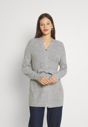 VIYTAL TIE BELT CARDIGAN - Cardigan - light grey melange