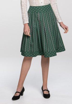 SCHATZ - A-line skirt - green