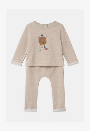 COZY SET UNISEX - Tracksuit - oatmeal heather