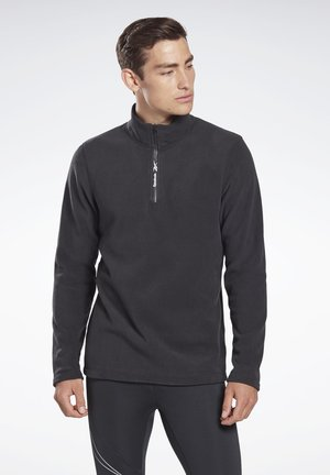OUTERWEAR QUARTER-ZIP TOP - Fleecetröja - black