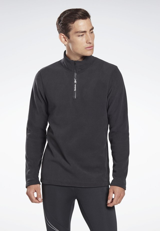 OUTERWEAR QUARTER-ZIP TOP - Sweat polaire - black
