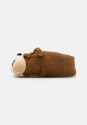 BULLDOG WITH PRINTED MOUTH - Pantoffels - brown