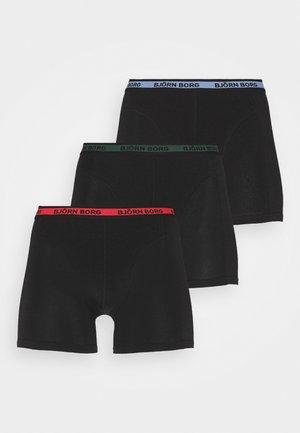 NEON SOLID SAMMY 3 PACK - Underkläder - black beauty