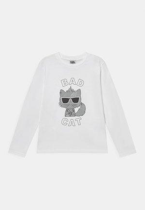 LONG SLEEVE UNISEX - Pitkähihainen paita - white