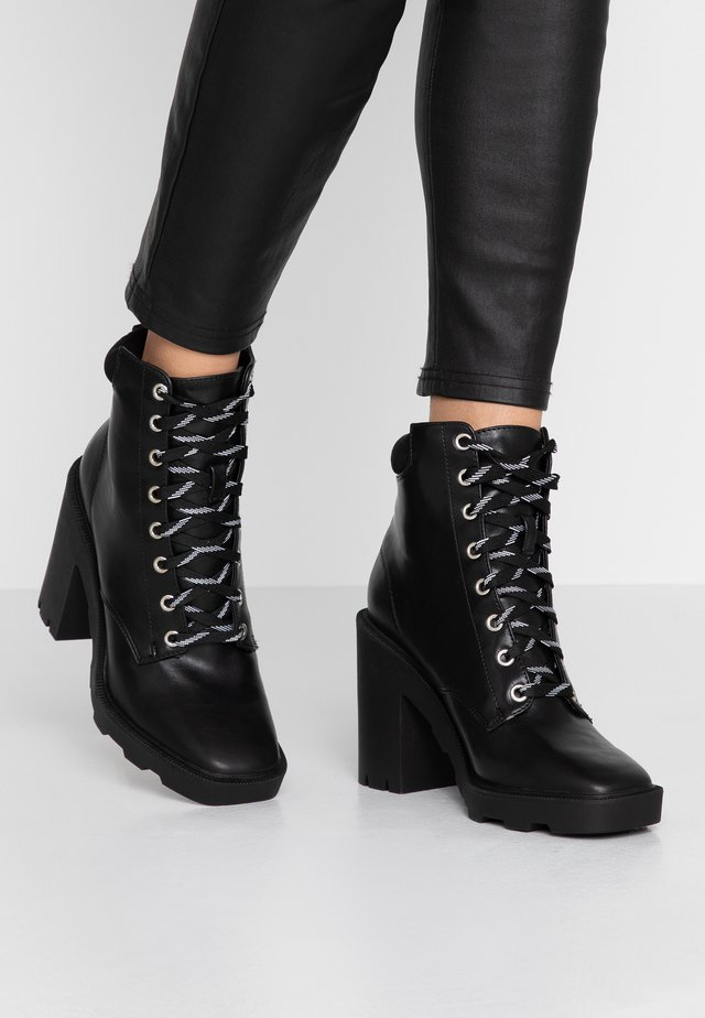 ACTION - High heeled ankle boots - black