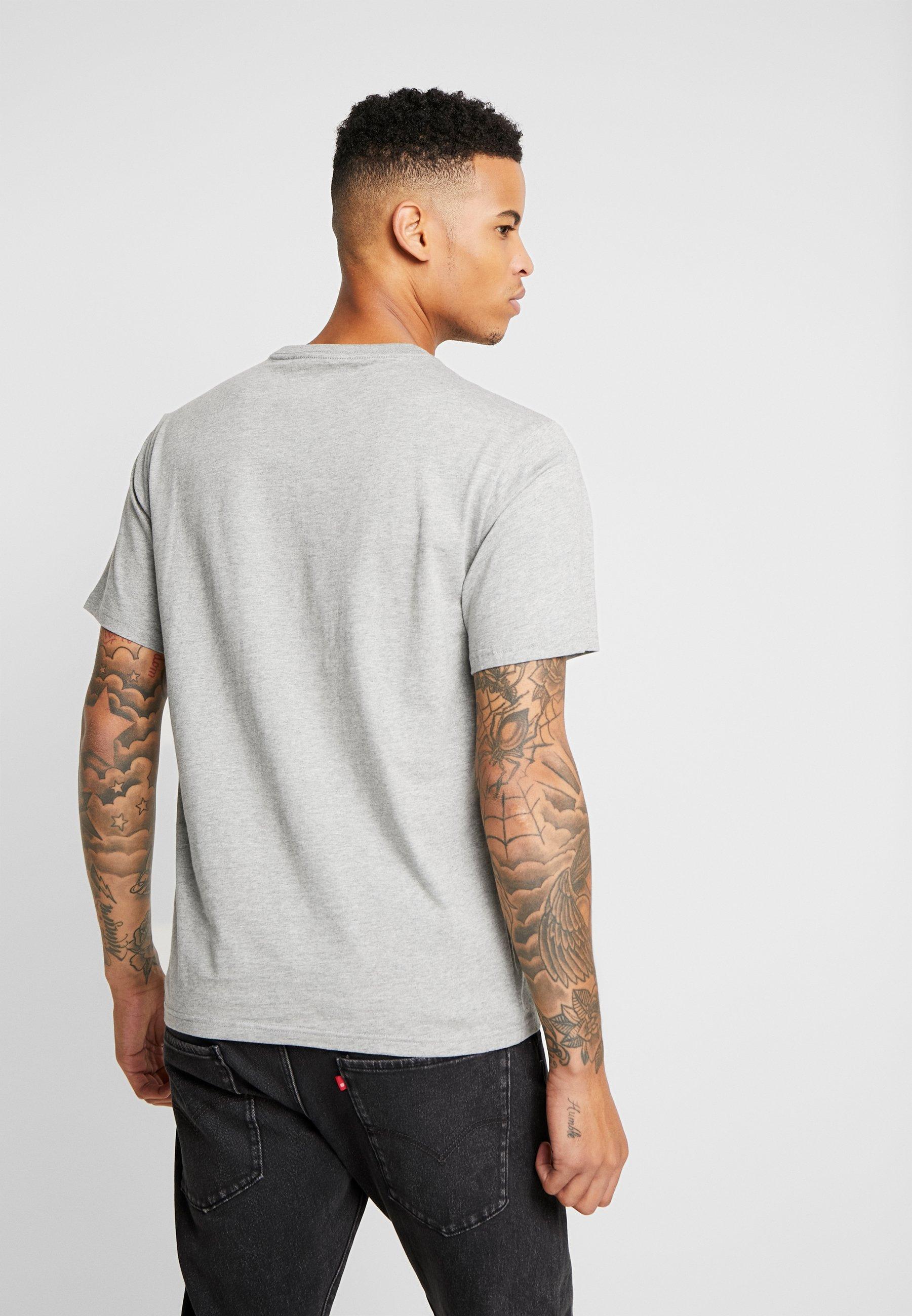 Converse STAR CHEVRON TEE - Print T-shirt - mottled light grey epJk9