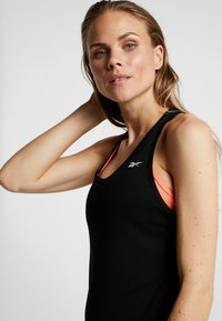 Reebok - MESH BACK TANK TOP - Camiseta de deporte - black - 4