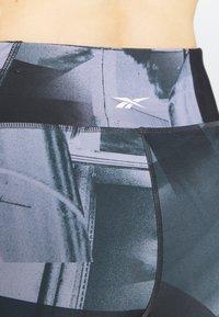 Reebok - LUX BOLD FLAT ON BACK - Tights - black - 3