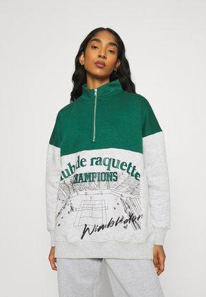 CLUB DE RAQUETTE HALF ZIP - Sweatshirt - grey