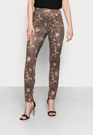 CARLY  - Leggings - Trousers - brown blurred