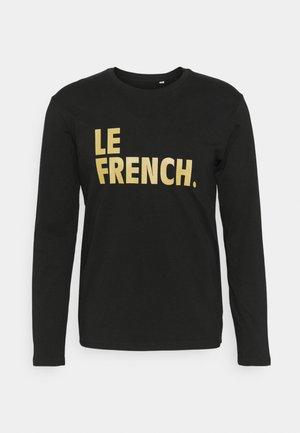 LONGSLEEVE LE FRENCH UNISEX - Long sleeved top - black