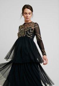 Maya Deluxe Maternity - EMBELLISHED BODICE MAXI DRESS - Maxikleid - black - 6