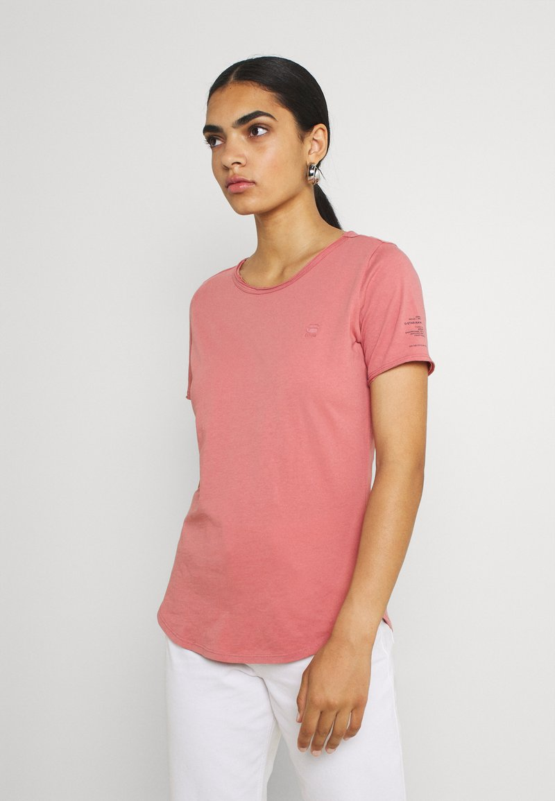 G-Star - MYSID OPTION SLIM - Print T-shirt - dusty rose