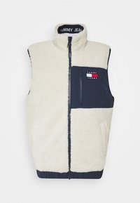 Tommy Jeans - REVERSIBLE RETRO VEST - Waistcoat - light silt/wine red - 2