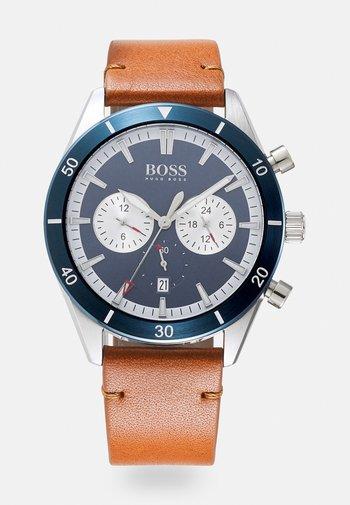 SANTIAGO - Zegarek chronograficzny - brown/blue