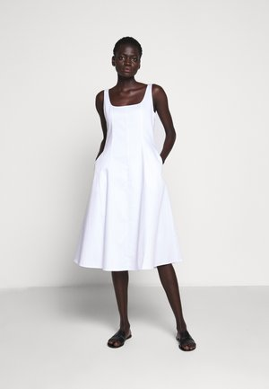 WIDE NECK PANEL - Day dress - bright white