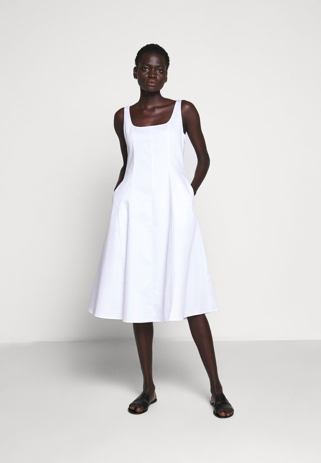 WIDE NECK PANEL - Day dress - bright white