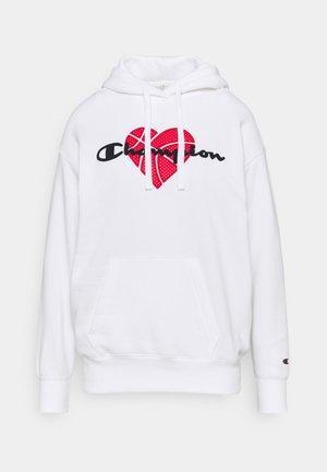 LOVE HOODED  - Sweatshirt - white