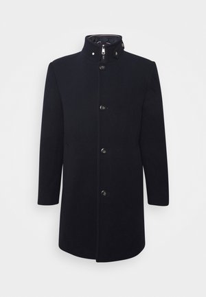 STAND UP COLLAR PADDED COAT - Klasický kabát - blue