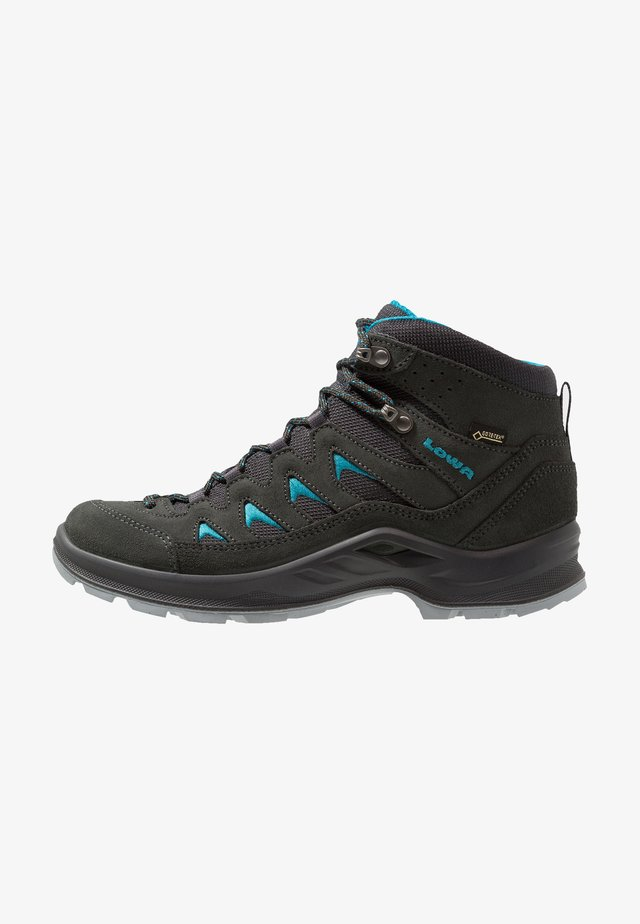 LEVANTE GTX MID - Hiking shoes - anthrazit/türkis