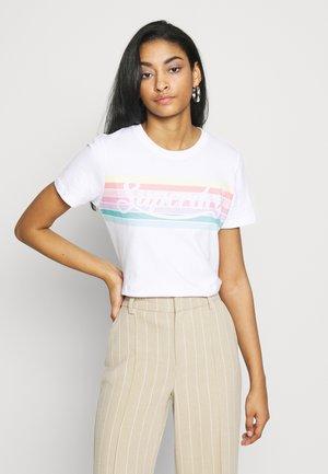 RAINBOW ENTRY TEE - Print T-shirt - optic