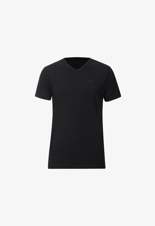 2ER-PACK MODAL COTTON STRETCH - T-shirt - bas - black