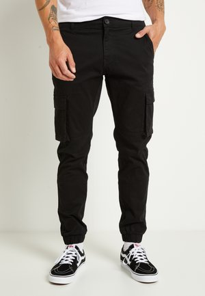 ONSCAM STAGE CUFF - Cargo trousers - black
