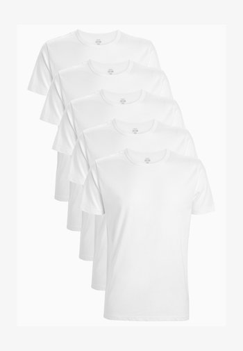 5 PACK - T-shirt - bas - white
