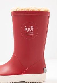 IGOR - SPLASH NAUTICO BORREGUITO - Stivali di gomma - rojo/red - 2