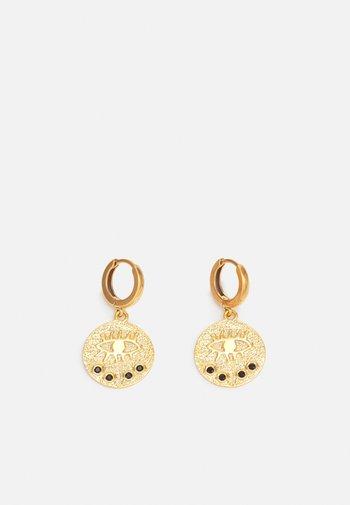 KRESSIDA SLIP ON EARRINGS - Earrings - gold-coloured/black