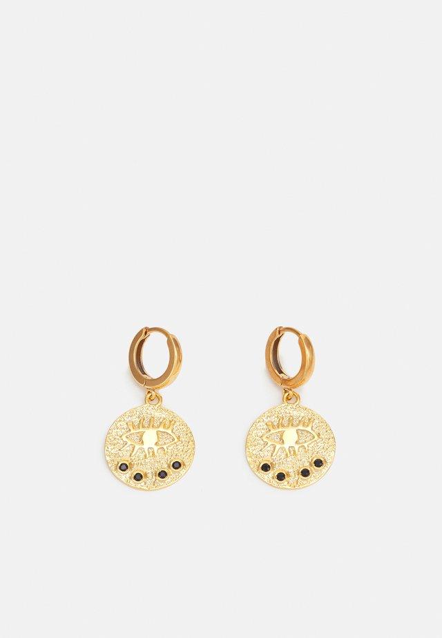 KRESSIDA SLIP ON EARRINGS - Boucles d'oreilles - gold-coloured/black