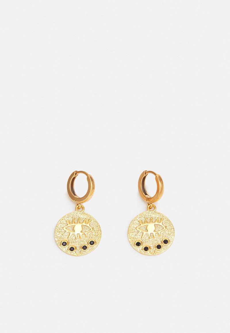 Hermina Athens - KRESSIDA SLIP ON EARRINGS - Earrings - gold-coloured/black