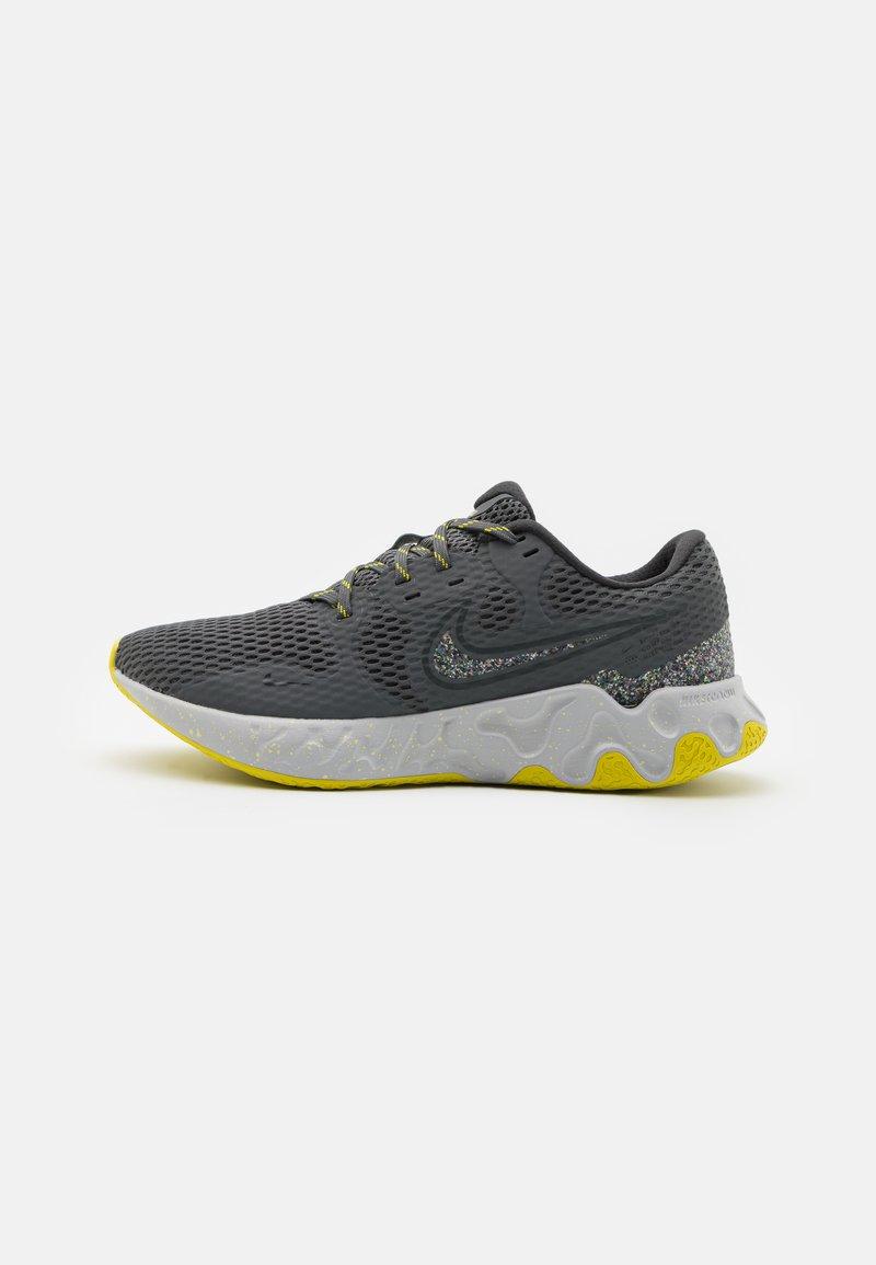 Nike Performance - RENEW RIDE 2 PRM - Neutrala löparskor - iron grey/dark smoke grey/high voltage/light smoke grey/limelight/grey fog