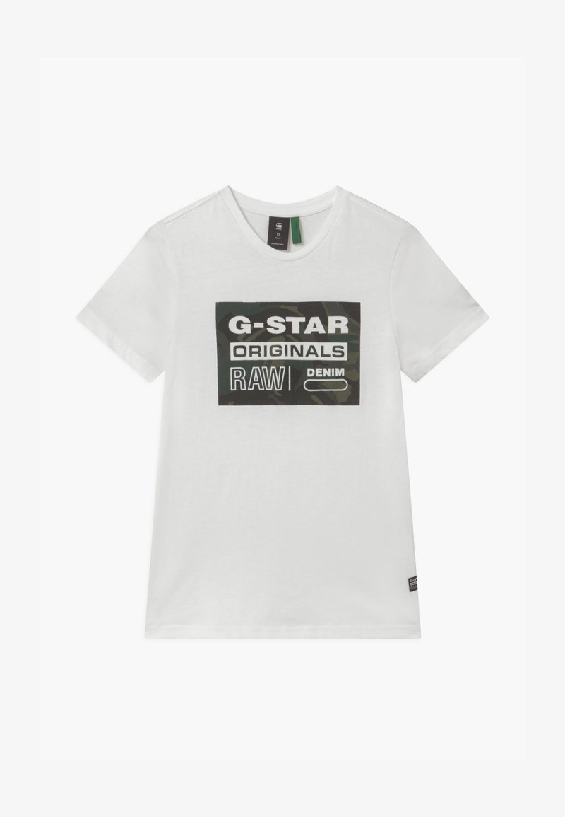 G-Star - TEE - Print T-shirt - milk