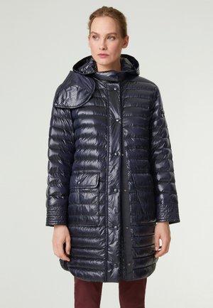 DAUNENMANTEL FLORA - Kabát zprachového peří - navyblau