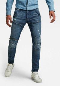 G-Star - 5620 3D ZIP KNEE SKINNY - Jeans Skinny Fit - faded ripped baltic sea - 0