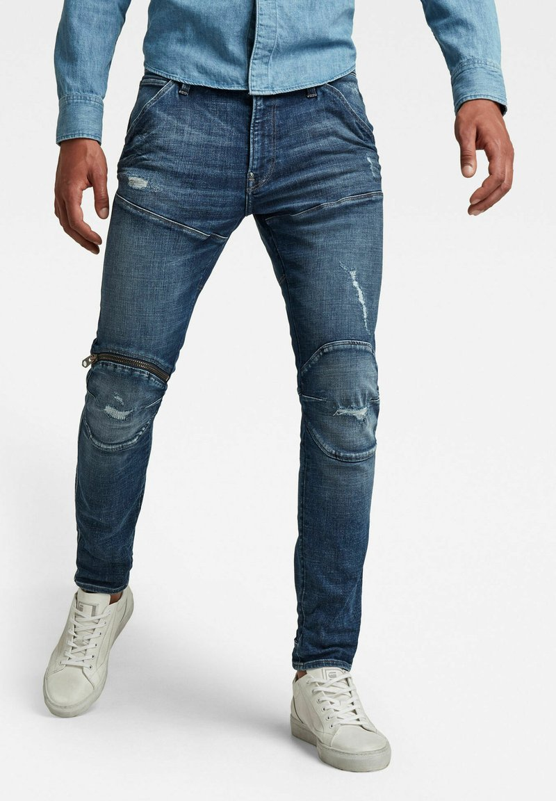 G-Star - 5620 3D ZIP KNEE SKINNY - Jeans Skinny Fit - faded ripped baltic sea