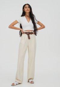 PULL&BEAR - Kalhoty - beige - 1