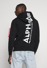 Alpha Industries - BACK PRINT ZIP HOODY - Mikina na zip - black - 2