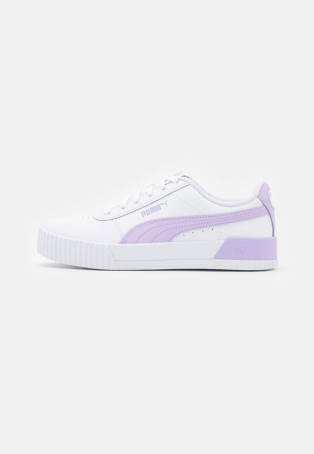 CARINA  - Sneakers basse - white/light lavender